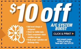 $10 Off A/C System Boost