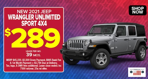 Jeep Wrangler Unlimited Sport Deal - May 2021