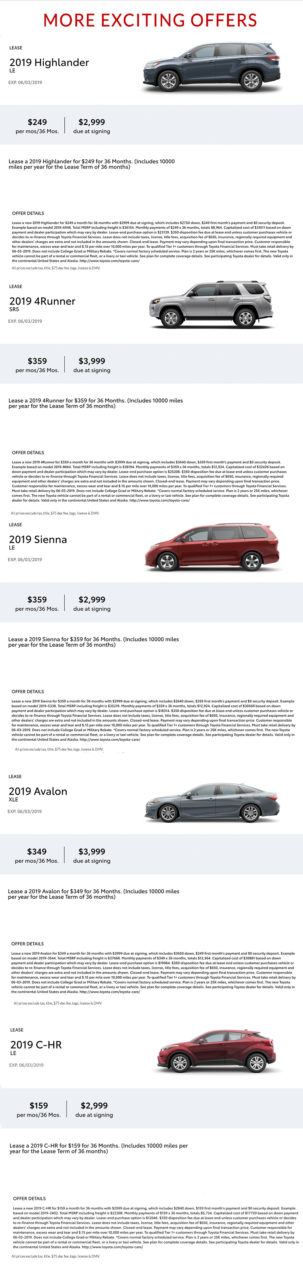 Toyota Lease Deals >> Toyota Lease Deals Long Island