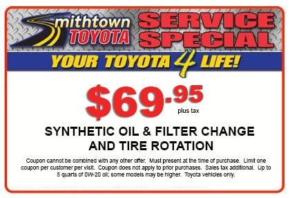 photograph relating to Take 5 Oil Change Coupons Printable identified as Support Offers Smithtown Toyota