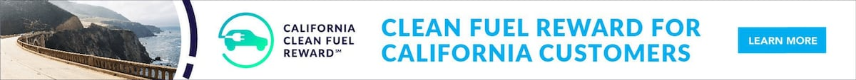 California Clean Fuel Reward info banner