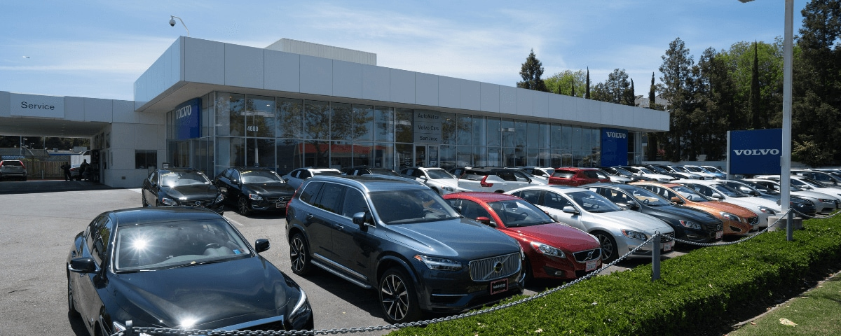Exterior view of AutoNation Volvo Cars San Jose during the day