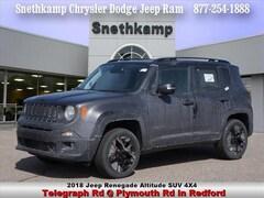 New 2018 Jeep Renegade ALTITUDE 4X4 Sport Utility in Redford, MI near Detroit