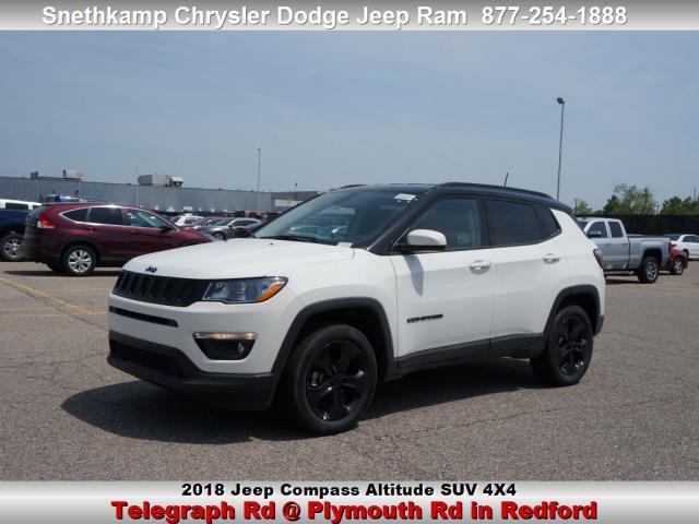 New 2018 Jeep Compass ALTITUDE 4X4 white exterior black interior 0 miles Stock JT321087 VIN 3