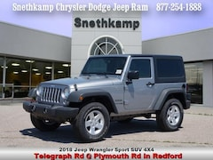 New 2018 Jeep Wrangler JK SPORT S 4X4 Sport Utility in Redford, MI near Detroit