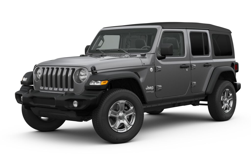 New 2019 Jeep Wrangler UNLIMITED SPORT S 4X4 granite crystal exterior black interior 0 miles VIN