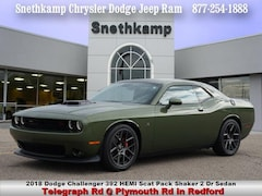 New 2018 Dodge Challenger 392 HEMI SCAT PACK SHAKER Coupe in Redford, MI near Detroit