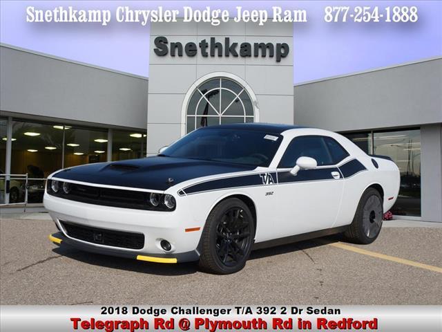 New 2018 Dodge Challenger TA 392 white knuckle exterior black interior 0 miles Stock JH110652