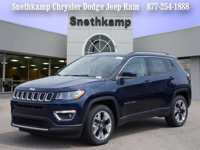 New 2018 Jeep Compass LIMITED FWD jazz blue pearlcoat exterior black interior 0 miles Stock JT4