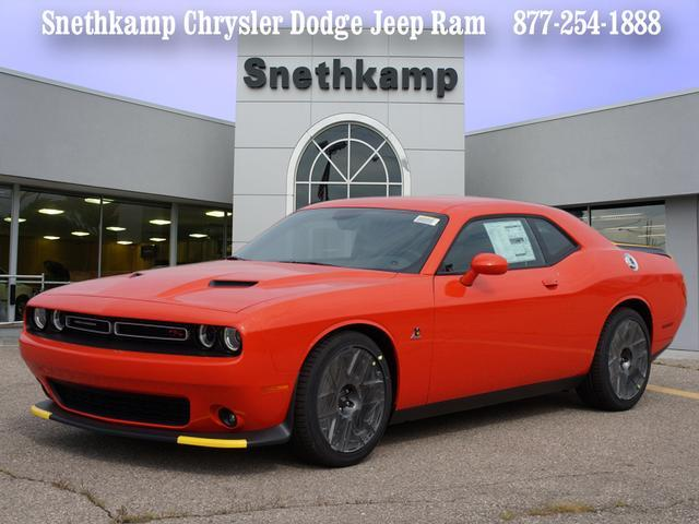 New 2018 Dodge Challenger RT SCAT PACK go mango exterior black interior 0 miles Stock JH334767