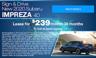 Sign & Drive - Lease a new 2020 Impreza for $239/Month