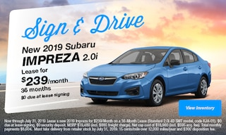 Sign & Drive New 2019 Subaru Impreza 2.0i