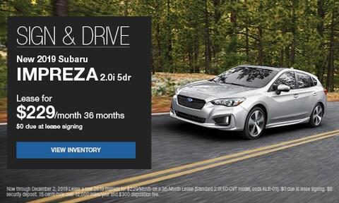 Sign & Drive New 2019 Subaru Impreza 2.0i 5dr