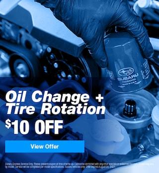 Oil Change + Tire Rotation