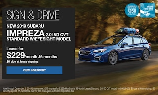 Sign & Drive New 2019 Subaru Impreza 2.0i 5D CVT Standard w/eyesight model