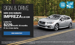 Sign & Drive New 2019 Subaru Impreza 2.0i 5dr