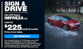 2019 Impreza Sign & Drive Lease offer.