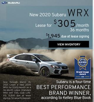 New 2020 Subaru WRX