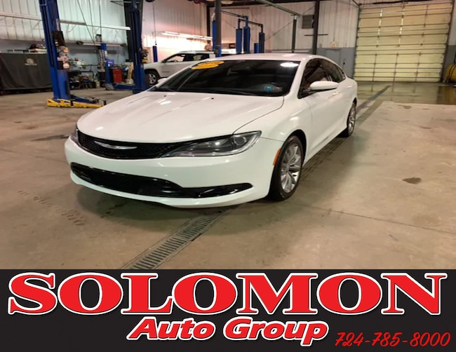 Certified Pre Owned 2016 Chrysler 200 S Sedan For Sale Brownsville PA