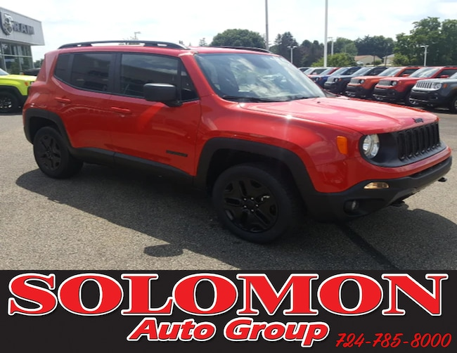 New 2018 Jeep Renegade UPLAND 4X4 Sport Utility For Sale/Lease Brownsville PA