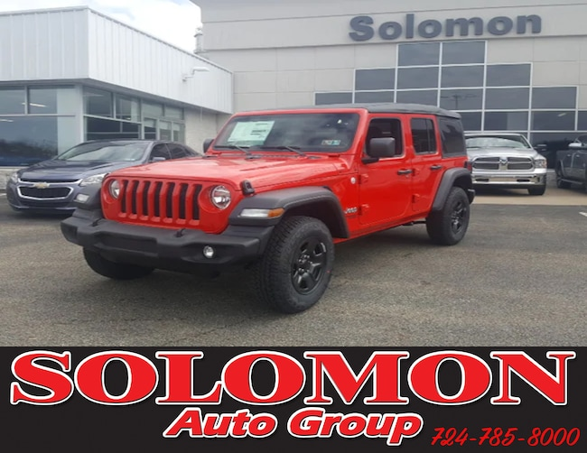 New 2018 Jeep Wrangler UNLIMITED SPORT 4X4 Sport Utility For Sale/Lease Brownsville PA