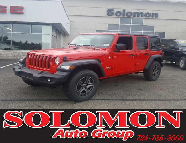 New 2018 Jeep Wrangler UNLIMITED SPORT S 4X4 Sport Utility For Sale/Lease Brownsville PA