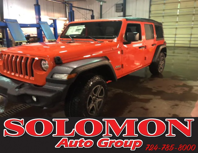 New 2019 Jeep Wrangler UNLIMITED SPORT S 4X4 Sport Utility For Sale/Lease Brownsville PA