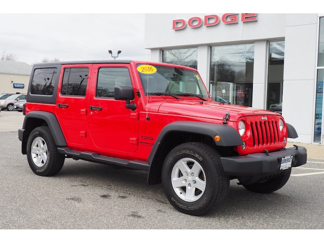Used 2016 Jeep Wrangler JK Unlimited Sport 4X4 SUV in Somerset, MA