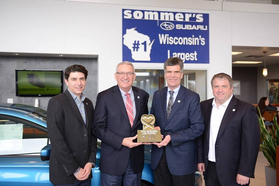 Sommer's Subaru Love Promise Award in Milwaukee