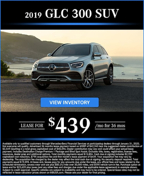2019 GLC 300 Lease for $439/mo