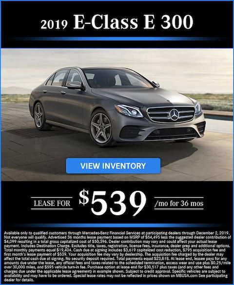 2019 E 300 Lease for $539/mo