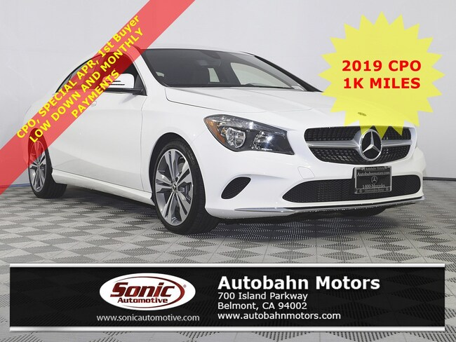 Certified Used 2019 Mercedes-Benz CLA 250 Coupe in Belmont