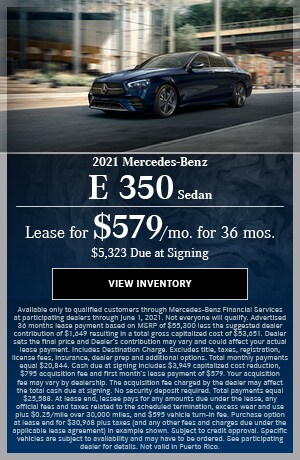 2021 Mercedes-Benz E 350 Sedan