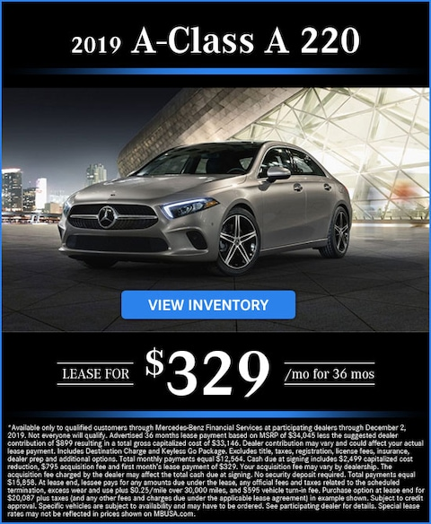 2019 A 220 Lease for $329/mo