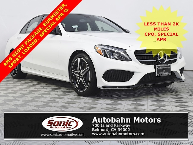 Certified Used 2018 Mercedes-Benz C-Class C 300 Sedan in Belmont