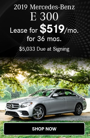 Lease $539/mo for 36 months $4953 due at signing on the 2019 E 300 Sedan