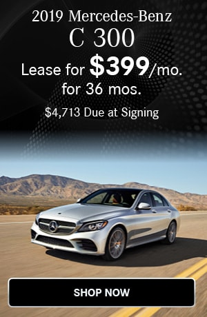 Lease $399/mo for 36 months $4713 due at signing on the 2019 C 300 Sedan