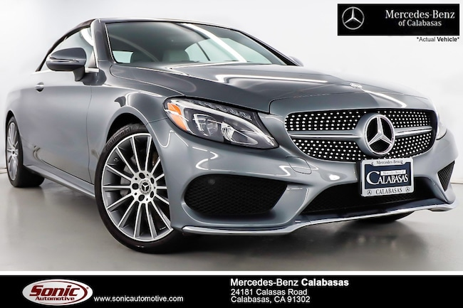 Certified Pre-Owned 2018 Mercedes-Benz C-Class C 300 Cabriolet serving Los Angeles, in Calabasas