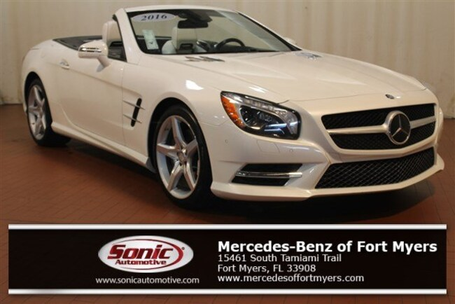 Certified Pre-Owned 2016 Mercedes-Benz SL-Class SL 550 2dr Roadster Roadster for sale in Fort Myers, FL