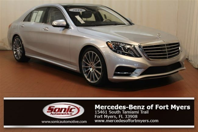 Certified Pre-Owned 2016 Mercedes-Benz S-Class S 550 4dr Sdn  RWD Sedan for sale in Fort Myers, FL