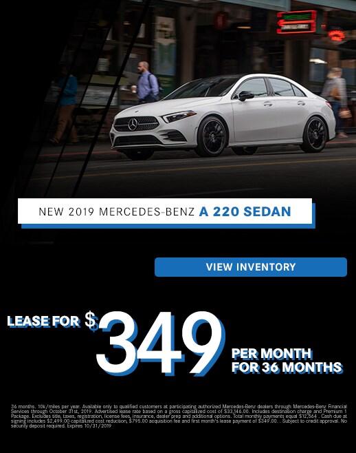 2019 Mercedes-Benz A 220 Lease Specials