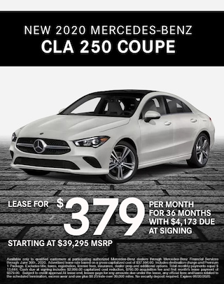 2020 Mercedes Benz CLA 250 Coupe Lease Special