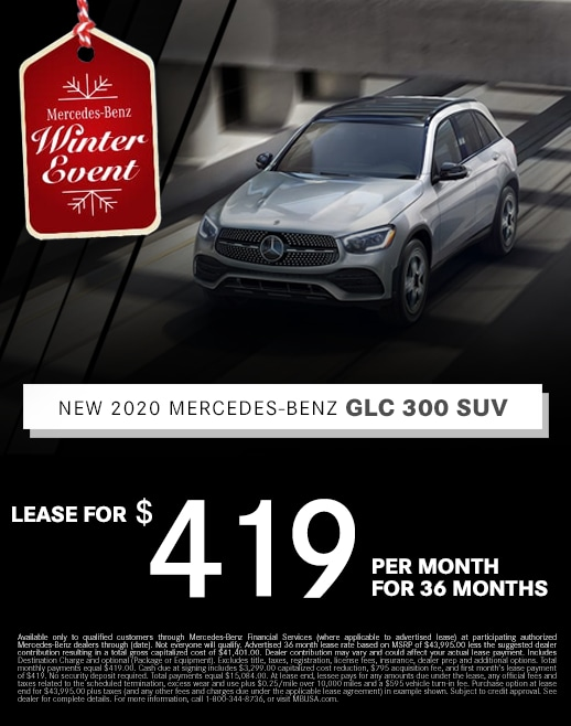2019 Mercedes Benz GLC Lease Special