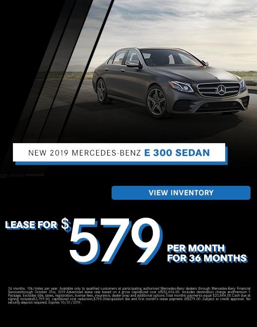 2019 Mercedes-Benz E 300 Lease Specials