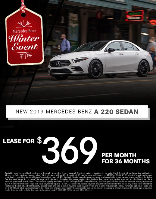 2019 Mercedes Benz A 220 Lease Special