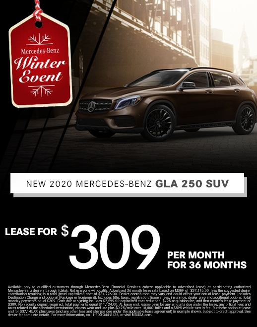 2019 Mercedes Benz GLA 250 Lease Special