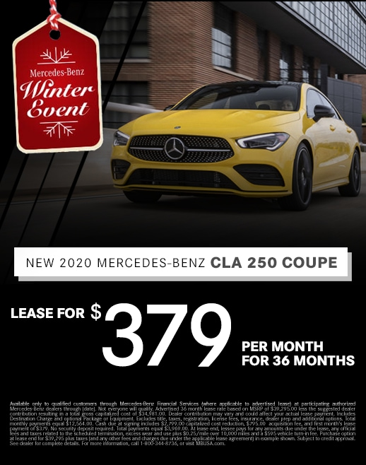 2019 Mercedes Benz CLA 250 Coupe Lease Special