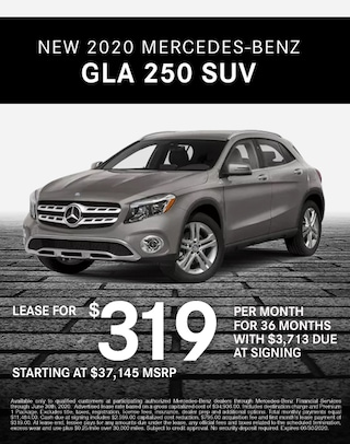2020 Mercedes Benz GLA 250 Lease Specials