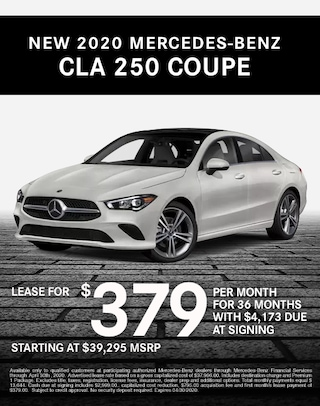 2020 Mercedes CLA 250 Coupe Lease Specials