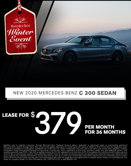 2019 Mercedes Benz C300 Lease Special